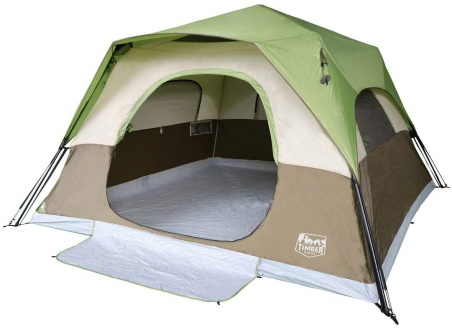 Timber Ridge 6-Person Instant Cabin Tent with Rainfly