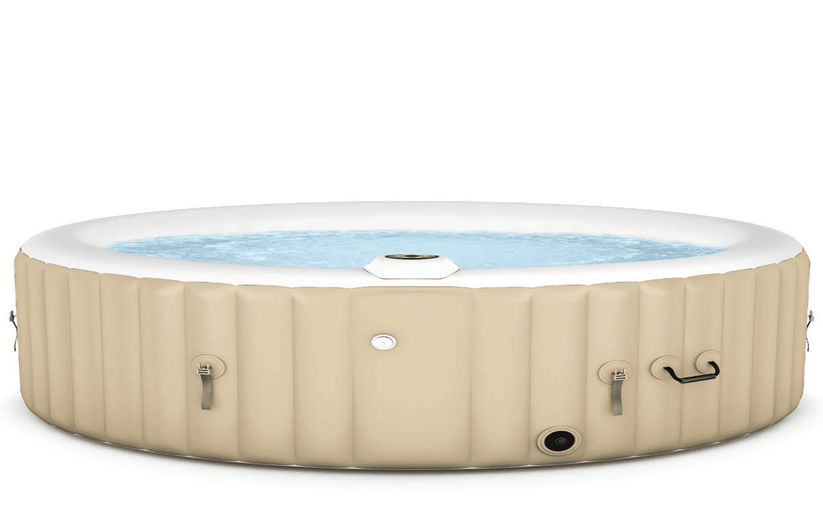 Goplus 4-6 Person Outdoor Spa Inflatable Hot Tub | 6 Person Inflatable Hot Tub