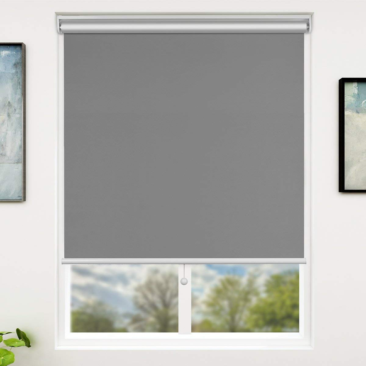 SUNFREE Grey Blackout Window Shades