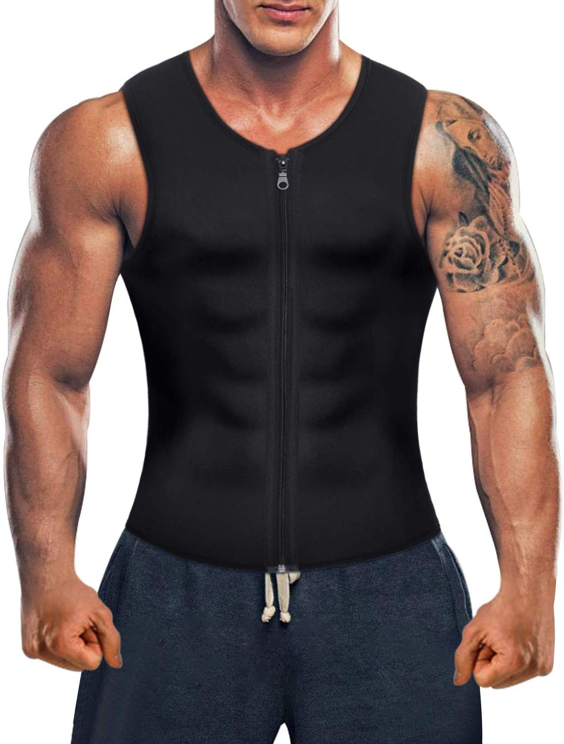 Men Hot Neoprene Sauna Suit Waist Trainer