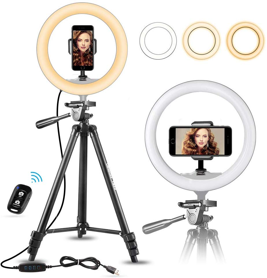 "10"" Selfie Ring Light with 50."""