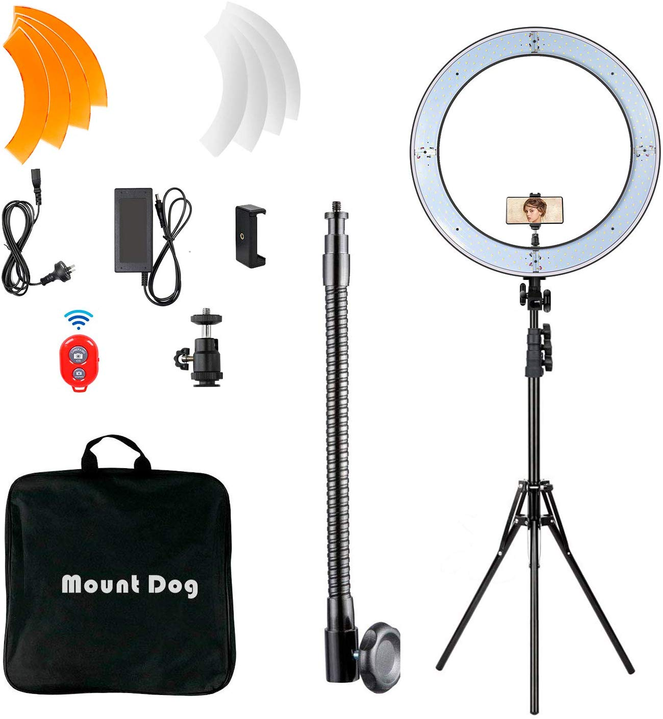 "Mountdog 18"" ring light"
