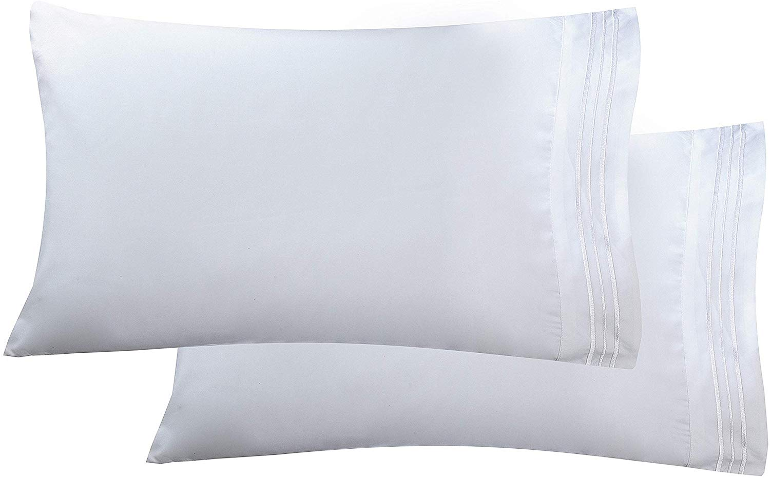 Luxury Ultra-Soft 2-Piece   White Pillow Cases