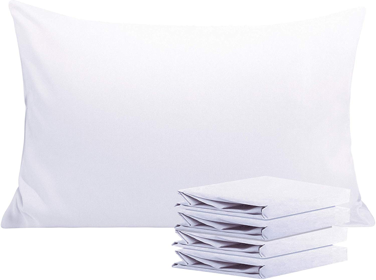 NTBAY 100% Brushed Microfiber  White Pillow Cases