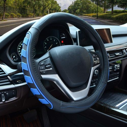 Car Steering Wheel Cover with Durable PU Leather