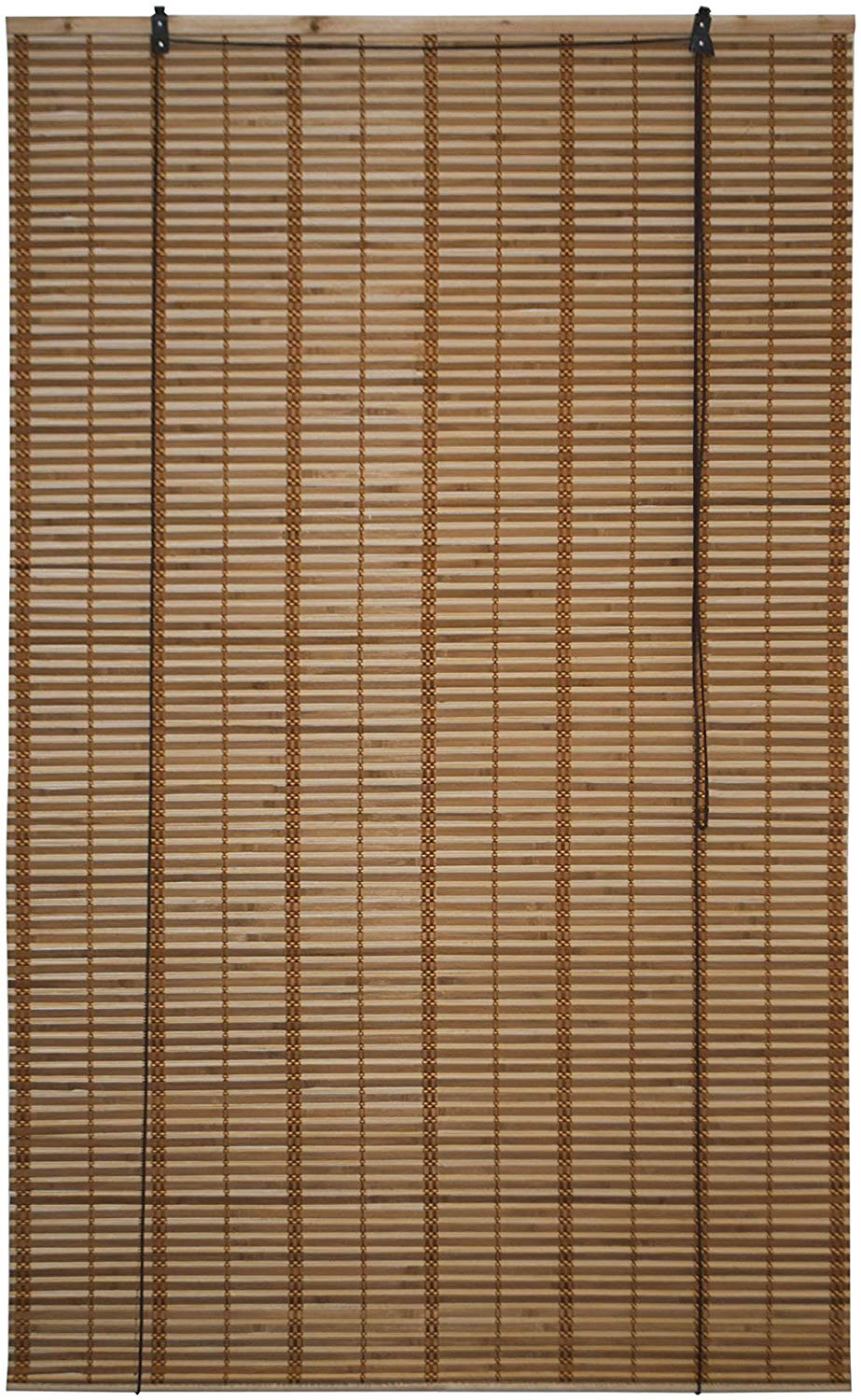 ALEKO BBL39X64BR Light Brown | Wooden Vertical Blinds