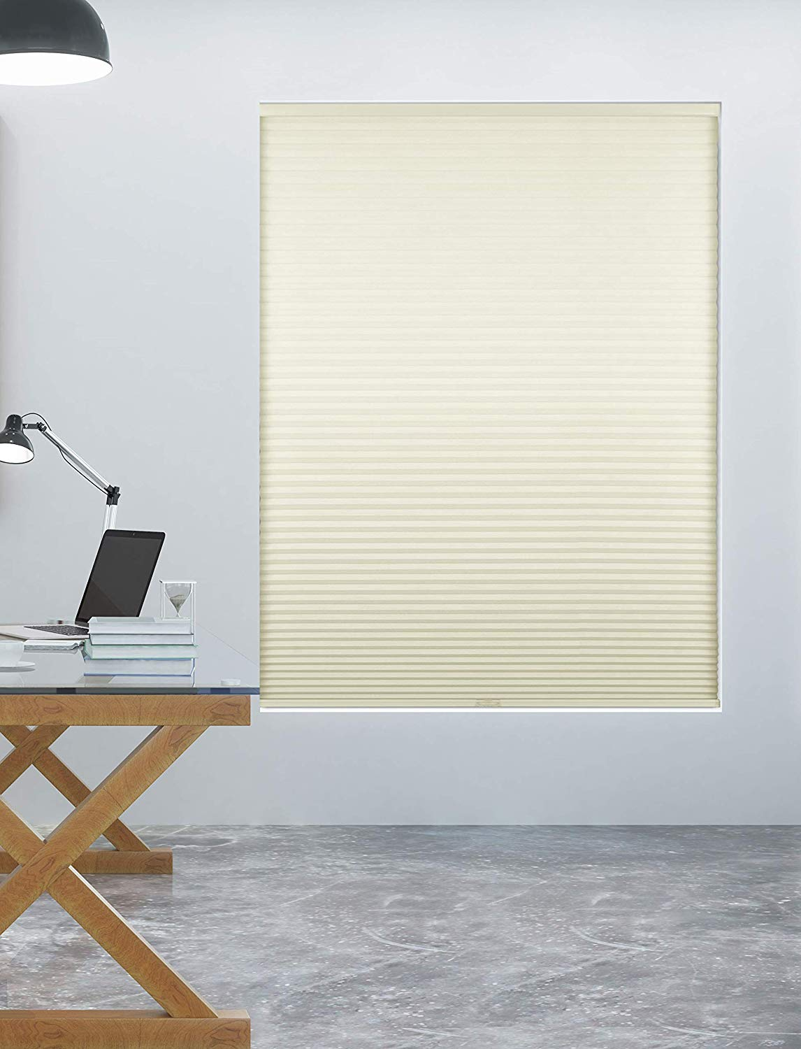 Arlo Blinds Single Cell Room Darkening Cordless Cellular Shades, Colour: White