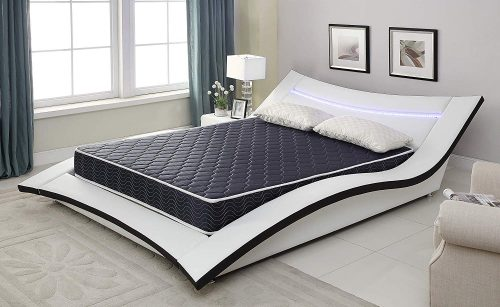 """AC Pacific 6"""" Foam Mattress Covered in a Stylish Navy Blue Waterproof Fabric, Twin, Navy Blue"""