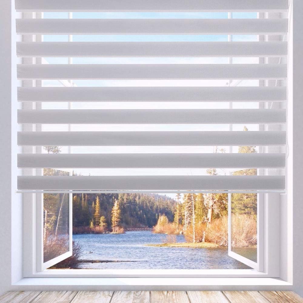 LUCKUP Horizontal Window Shade Blinds Day and Night Blinds Curtains