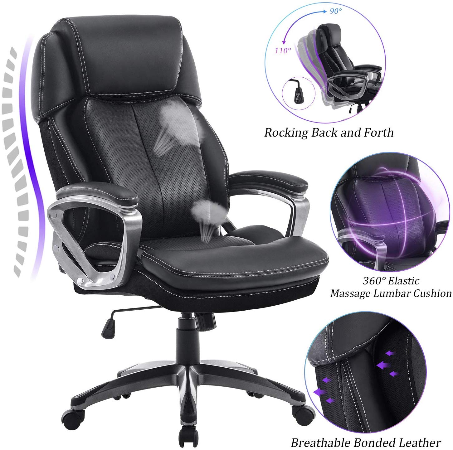 REFICCER Multifunctional Office Chair - heated massage office chairs