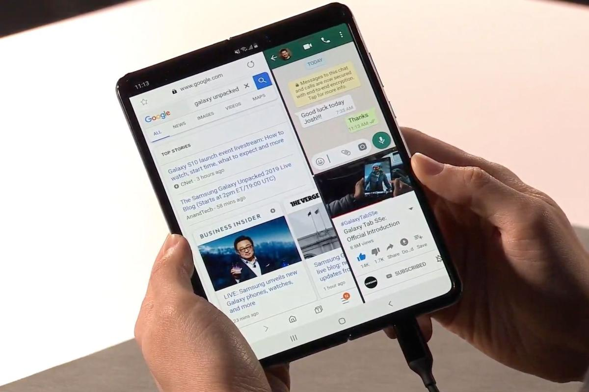 Work when fold - Samsung Galaxy Fold