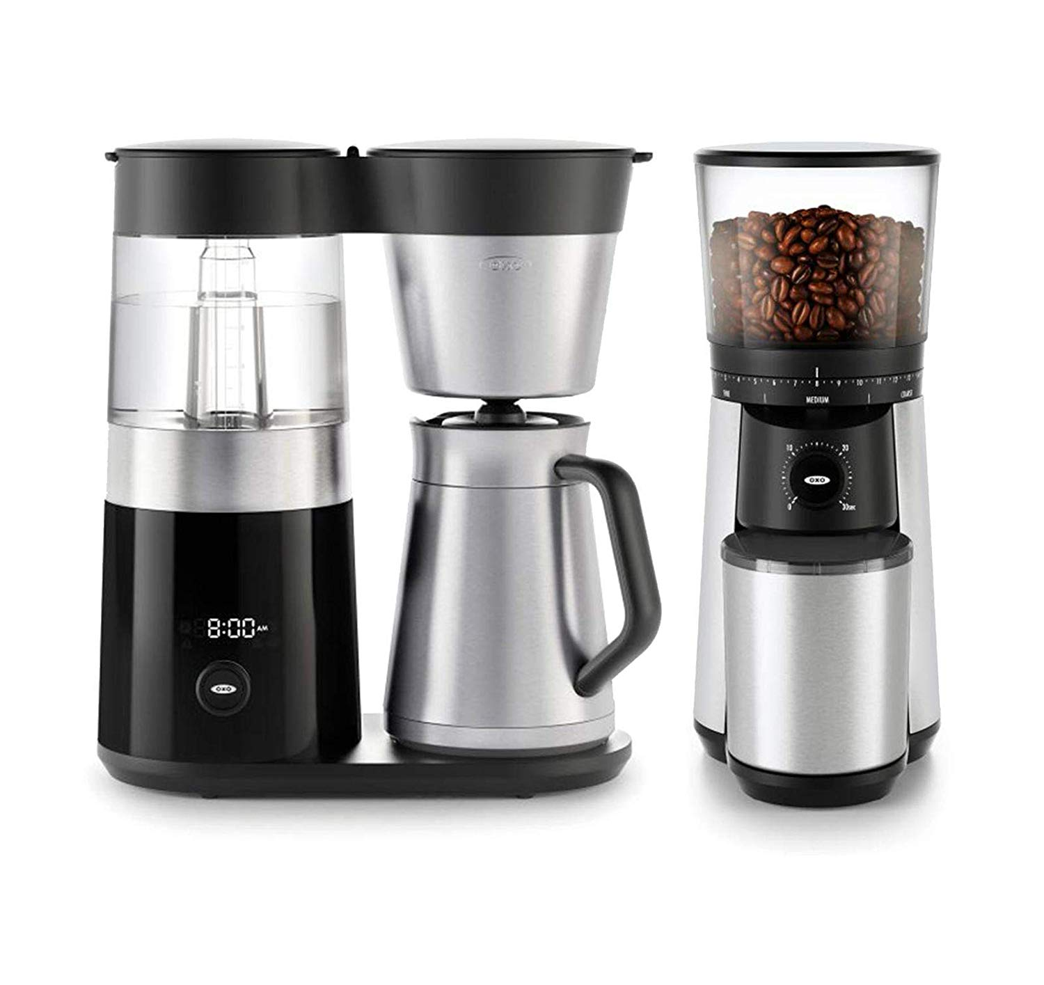 OXO BREW 9 Cup Programmable Coffee Maker Bundle | Bean to Cup Coffee Machine