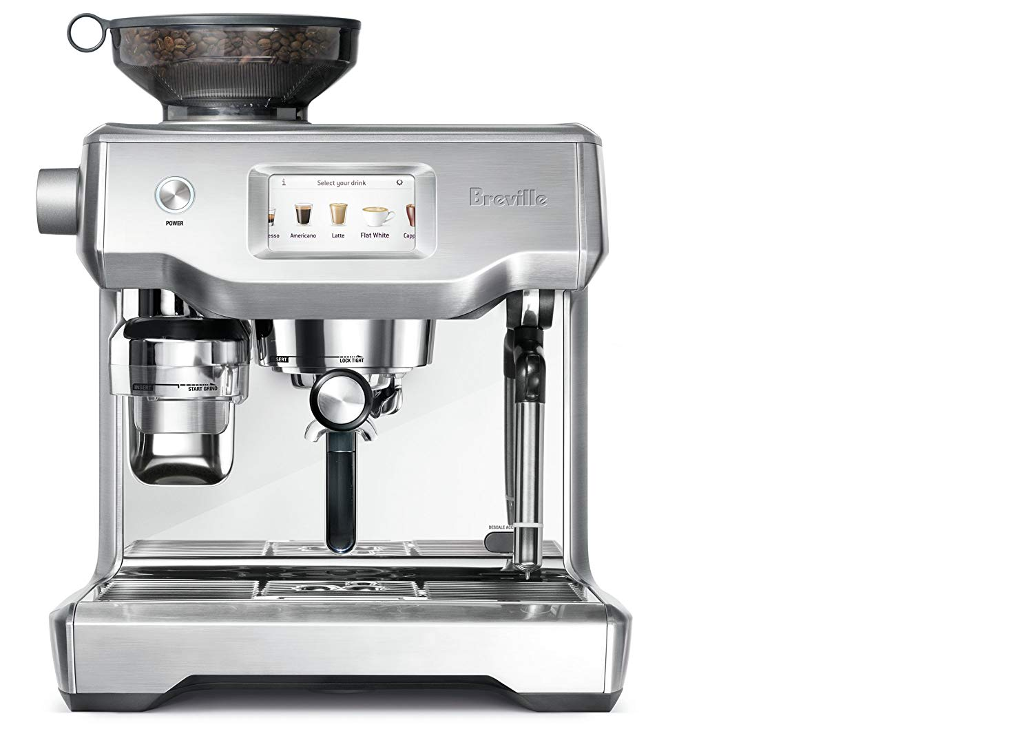 Breville BES990BSSUSC Fully Automatic Espresso Machine | bean to cup coffee machine