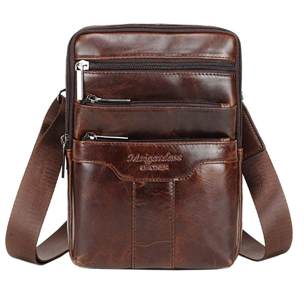Hebetag | Brown Leather Shoulder Bags