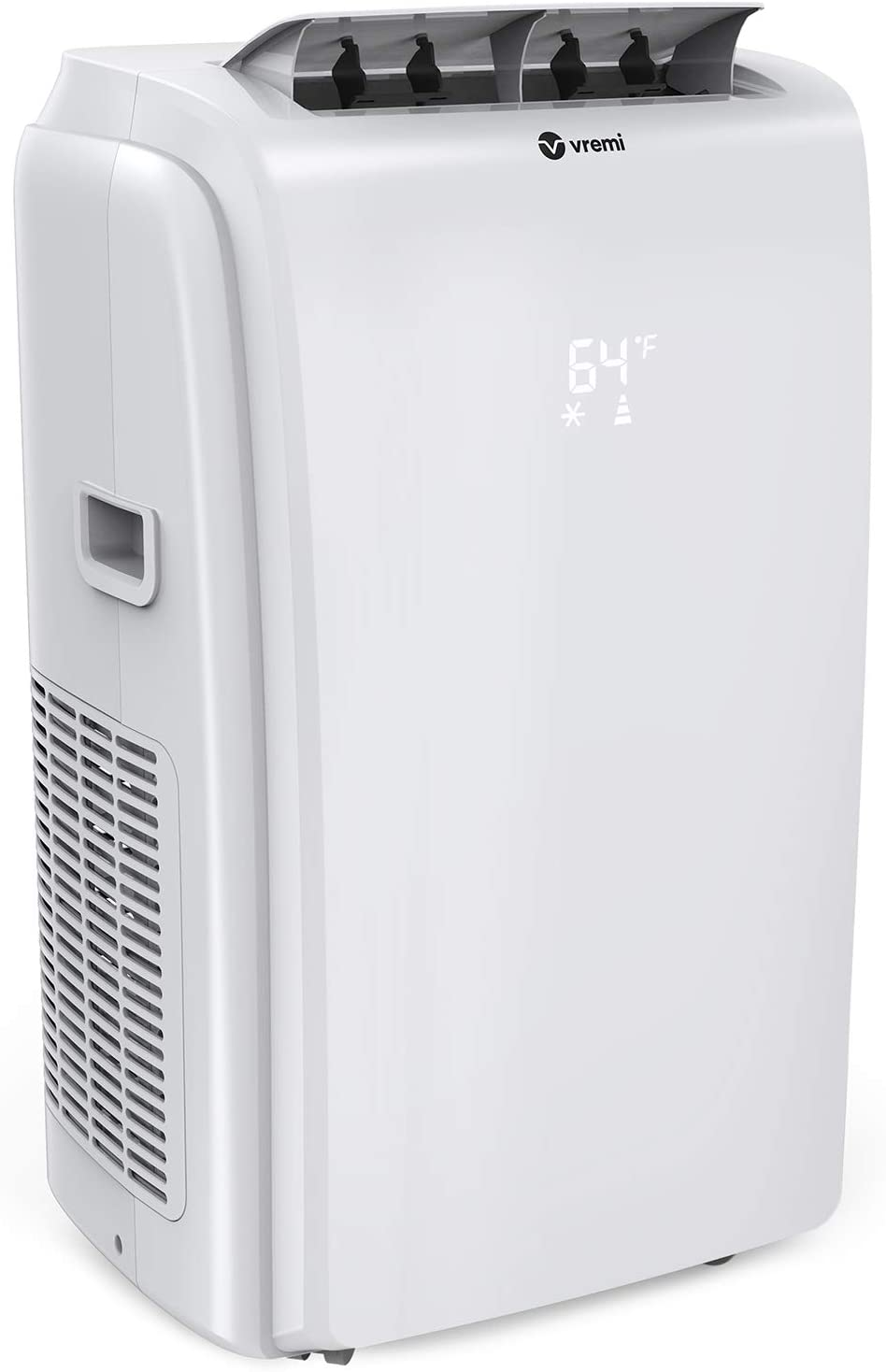 Vremi 12,000 BTU Portable Air Conditioner with Heat Function - Quiet Air Conditioning Machine for 450 to 550 Square Feet Rooms - LED Display Auto Shut Off and Dehumidifier - Remote Control Included
