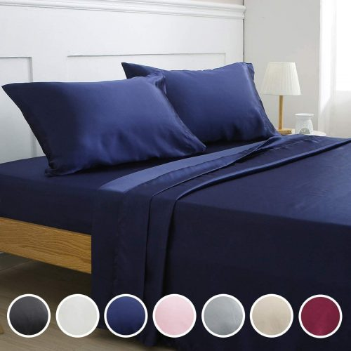 Vonty Silky Soft Satin Bed Sheets - Silk Bed Sheets
