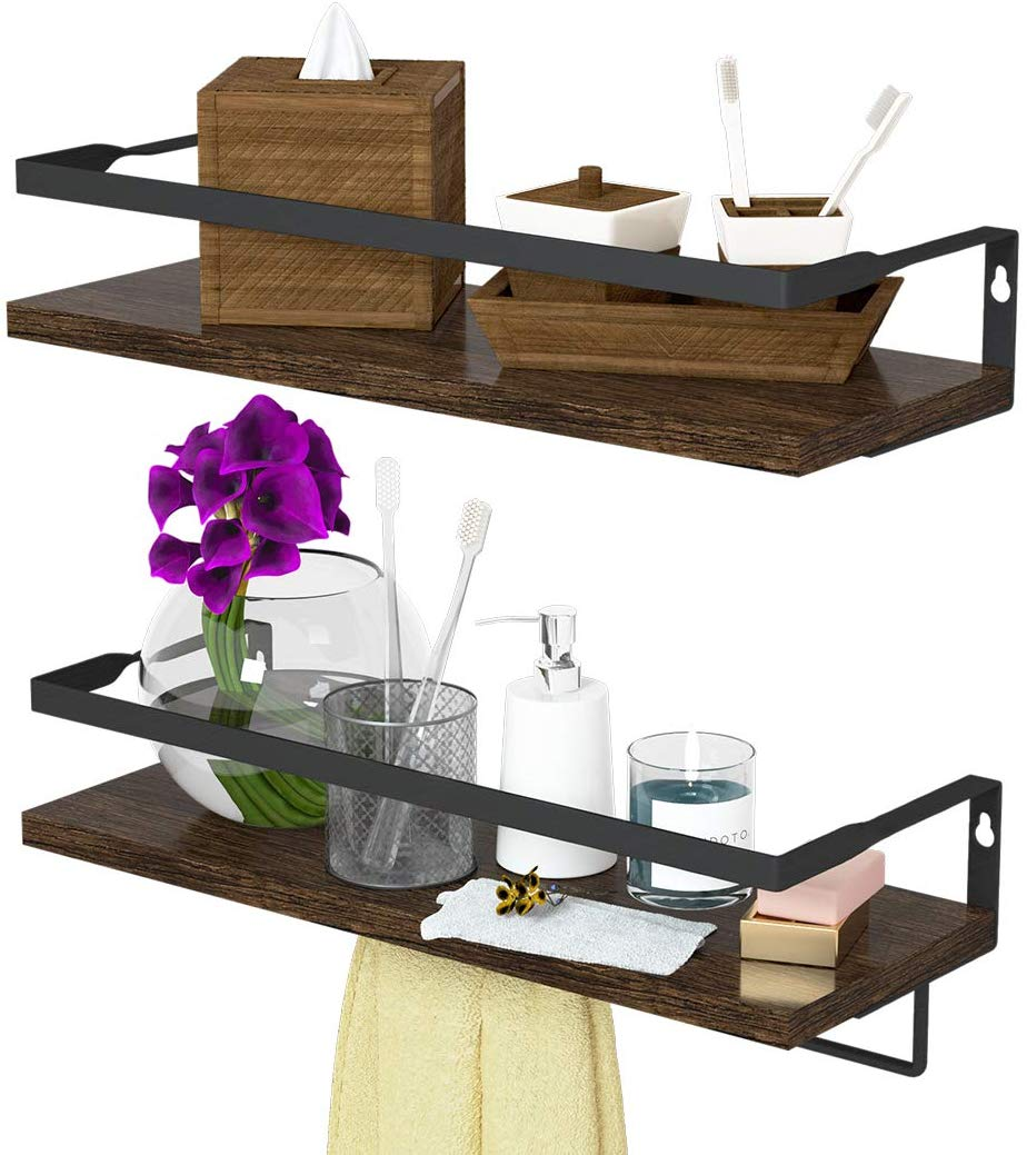 ENDOTO Floating Shelves with Towel Bar