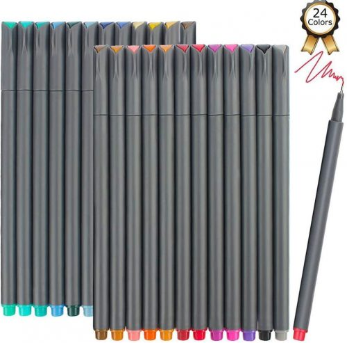 iBayam Fineliner Pens, 24 Bright Colors