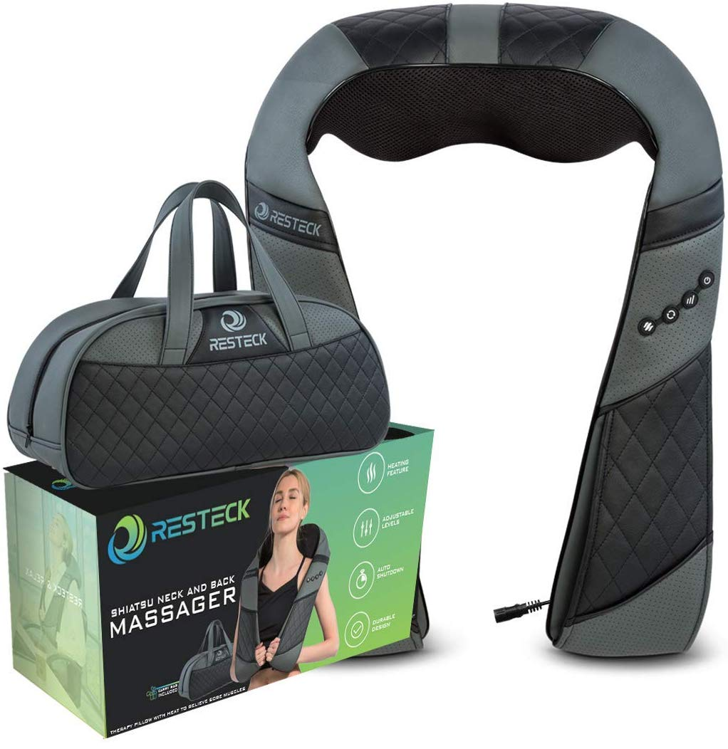 Massagers for Neck and Back with Heat by RESTECK | Neck Massage Machine