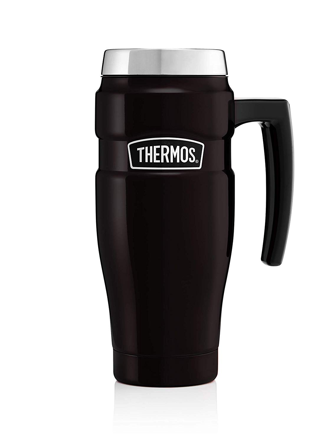 Thermos Stainless King Travel Mug, Matt Black, 470 ml