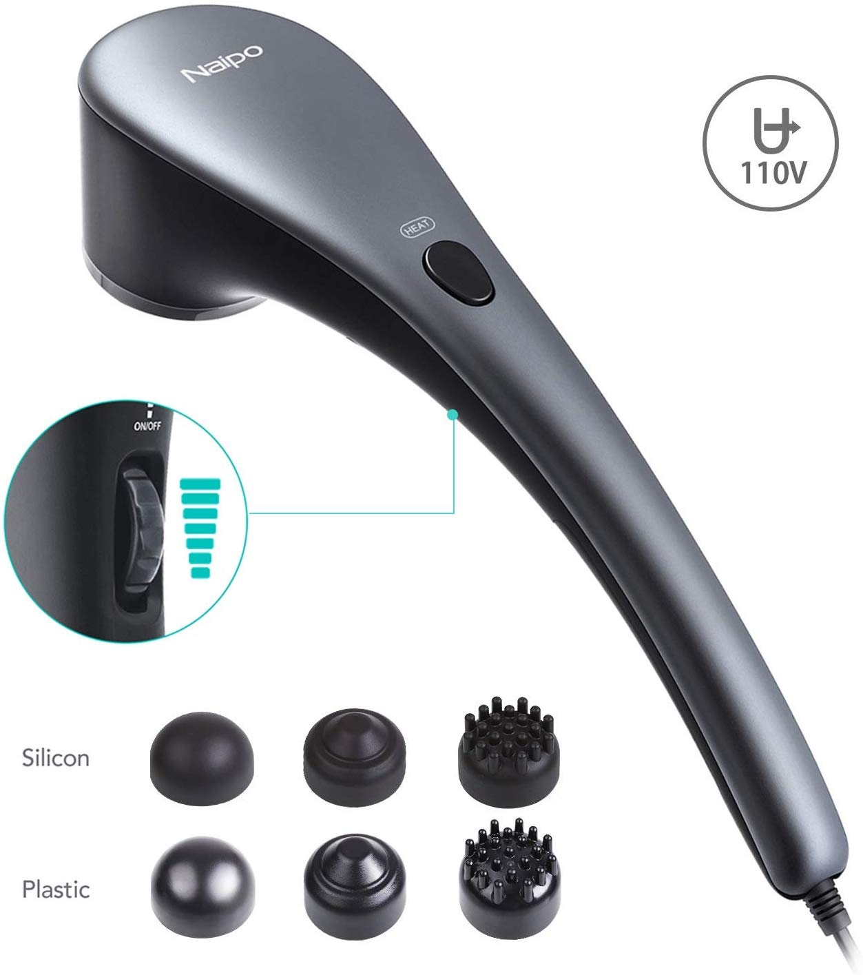 Naipo Handheld Back Massager | Massage Machine For Backpain