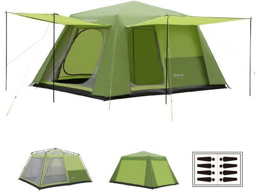 KingCamp Camp King 8-Person 2-Room Instant Camp Cabin Ten
