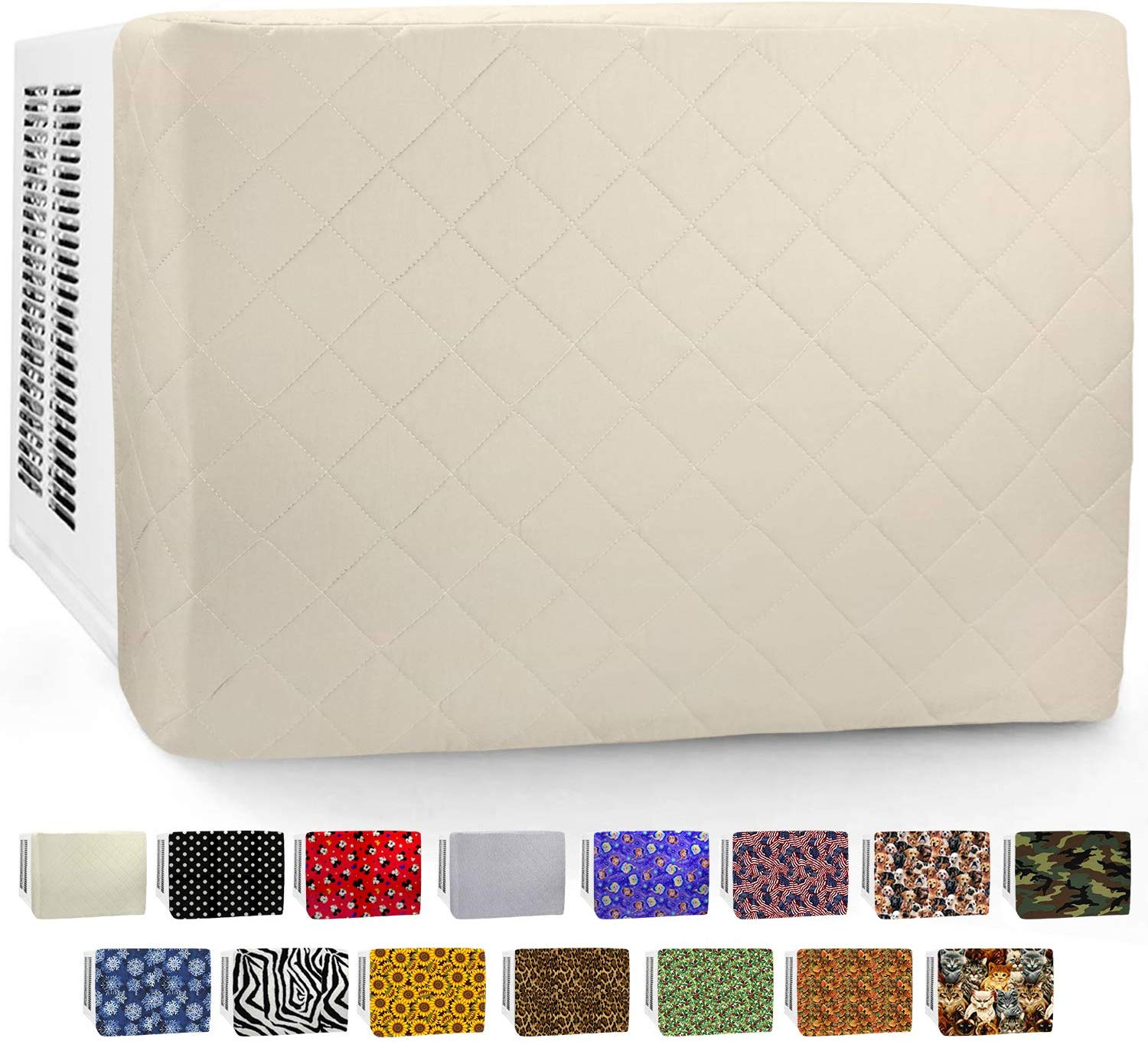 In Wall AC Front Cover (3-Layer) Decorative Air Conditioner Sleeve