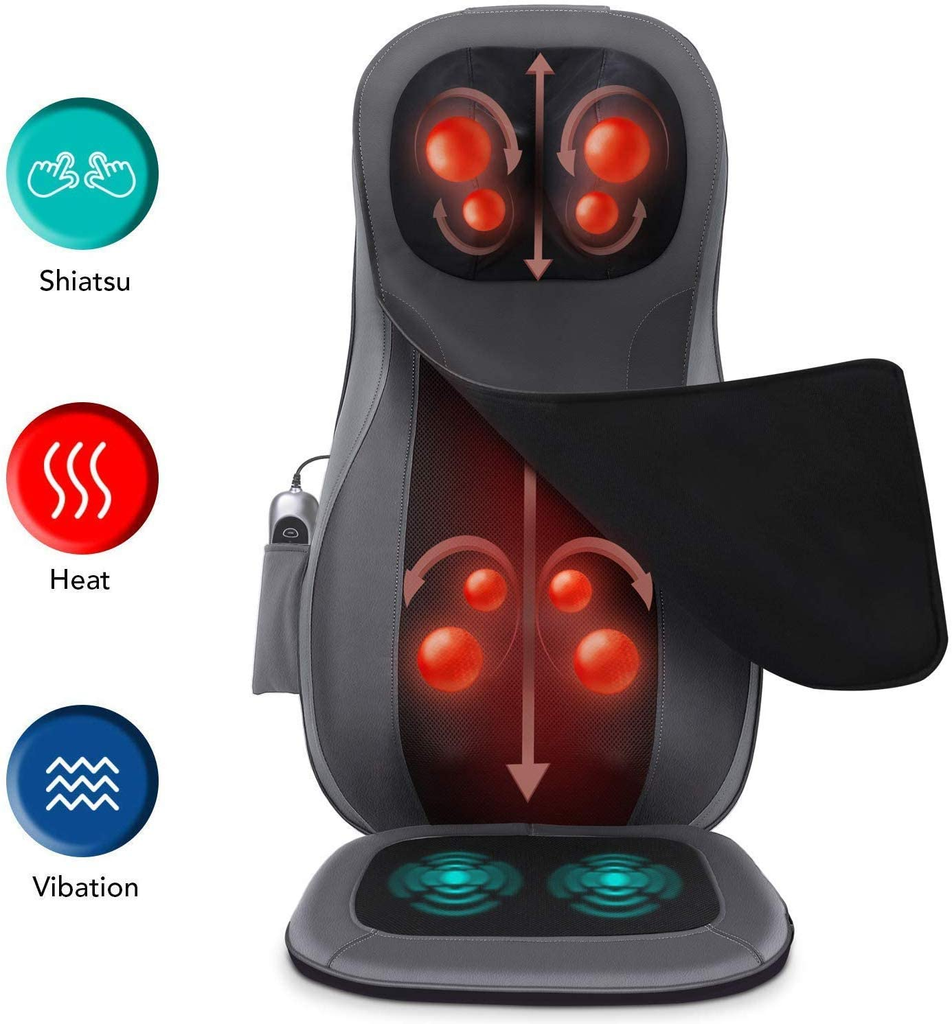 Naipo Shiatsu Neck & Back Massager | Massage Machine For Backpain