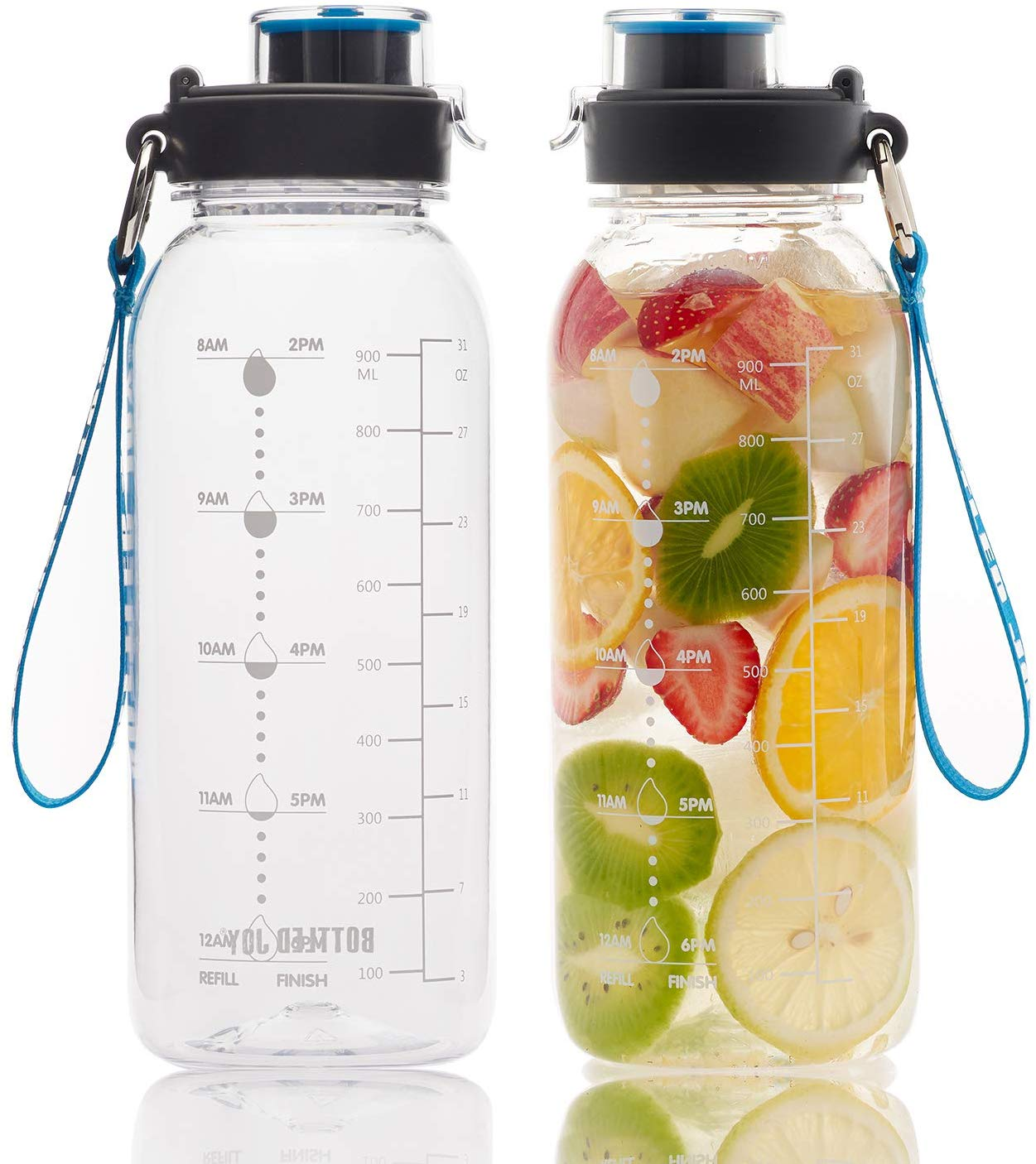 BOTTLED JOY 32oz Water Bottle| Cheap Water Bottles