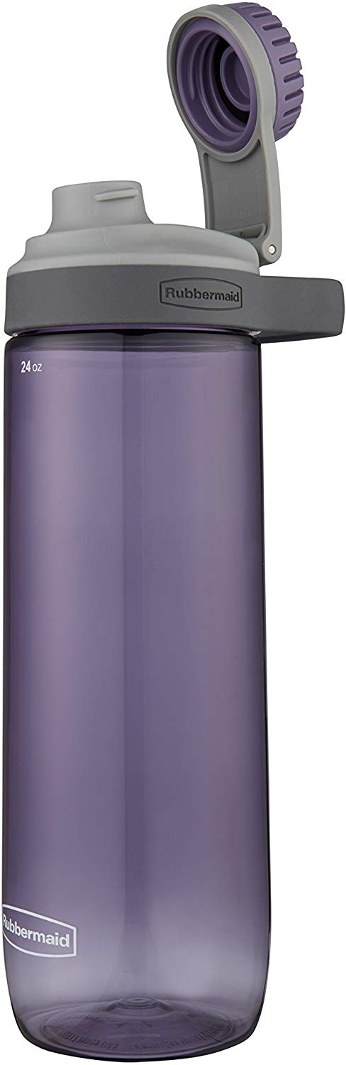 Rubbermaid Leak-Proof Chug Water Bottle, 24 oz, Dusty Lilac | Cheap Water Bottles