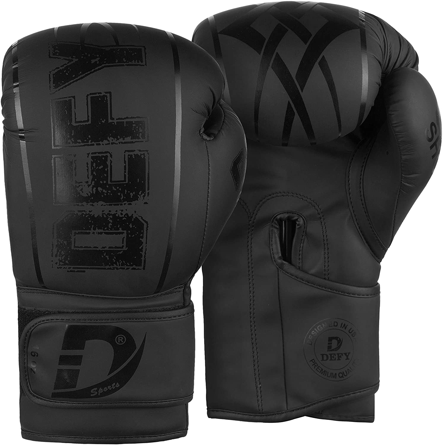 DEFY Boxing Gloves for Men & Women Training MMA Muay Thai Premium Quality Gloves for Punching Heavy Bags Sparring Kickboxing Fighting Gloves
