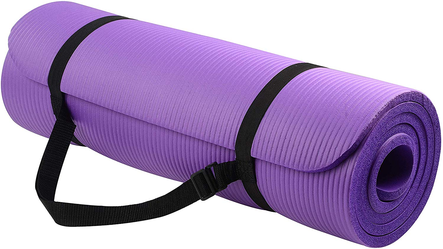 BalanceFrom GoYoga All-Purpose 1/2-Inch Extra Thick High-Density Anti-Tear Exercise Yoga Mat with Carrying Strap