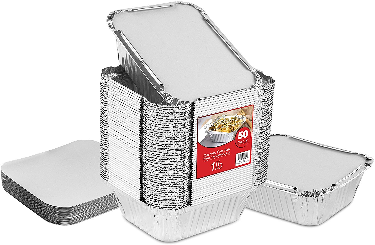 Stock Your Home 50 Pack Disposable Takeout Containers