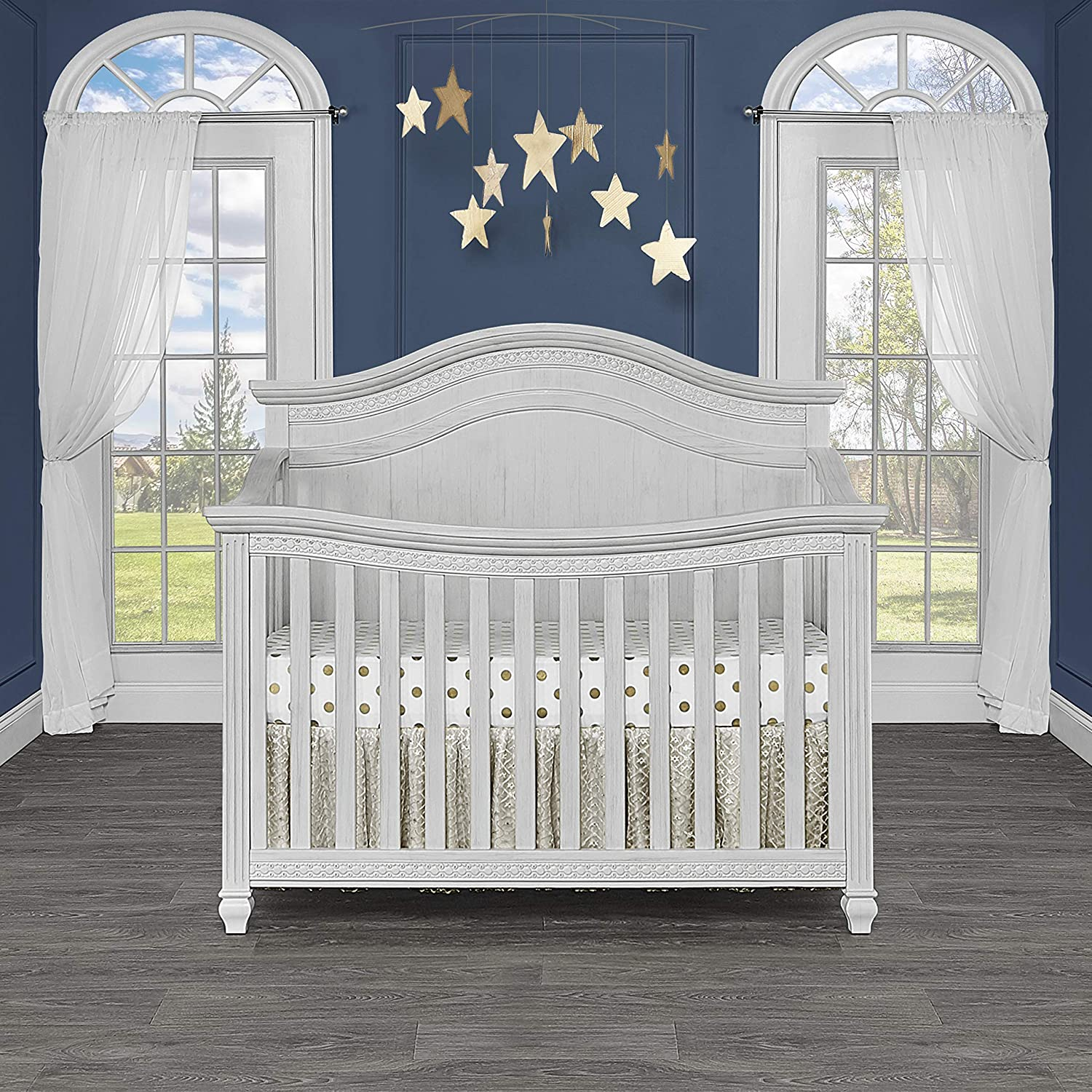 Evolur Madison 5 in 1 Curved Top Convertible Crib
