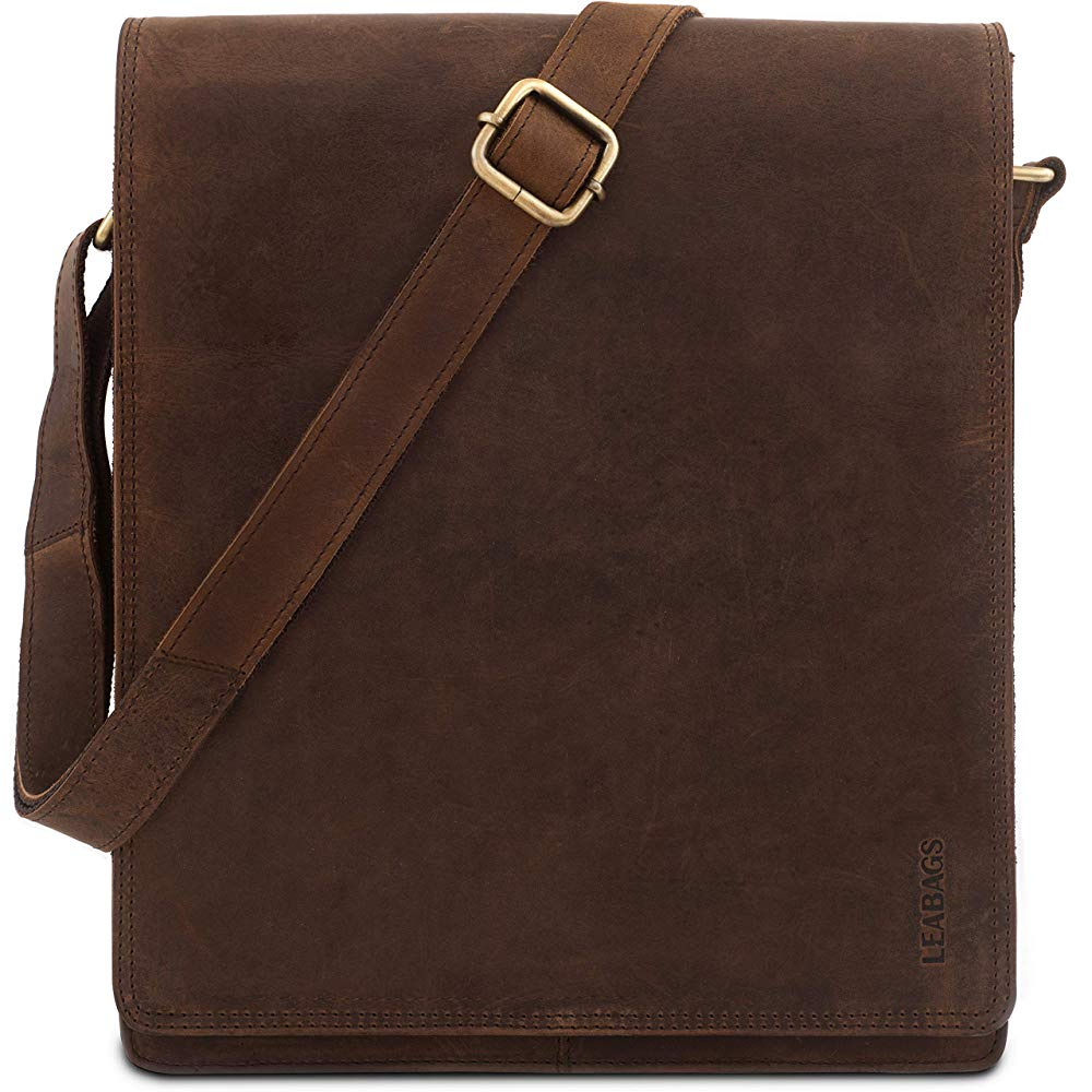 LEABAGS London messenger bag shoulder bag | Brown Leather Shoulder Bags