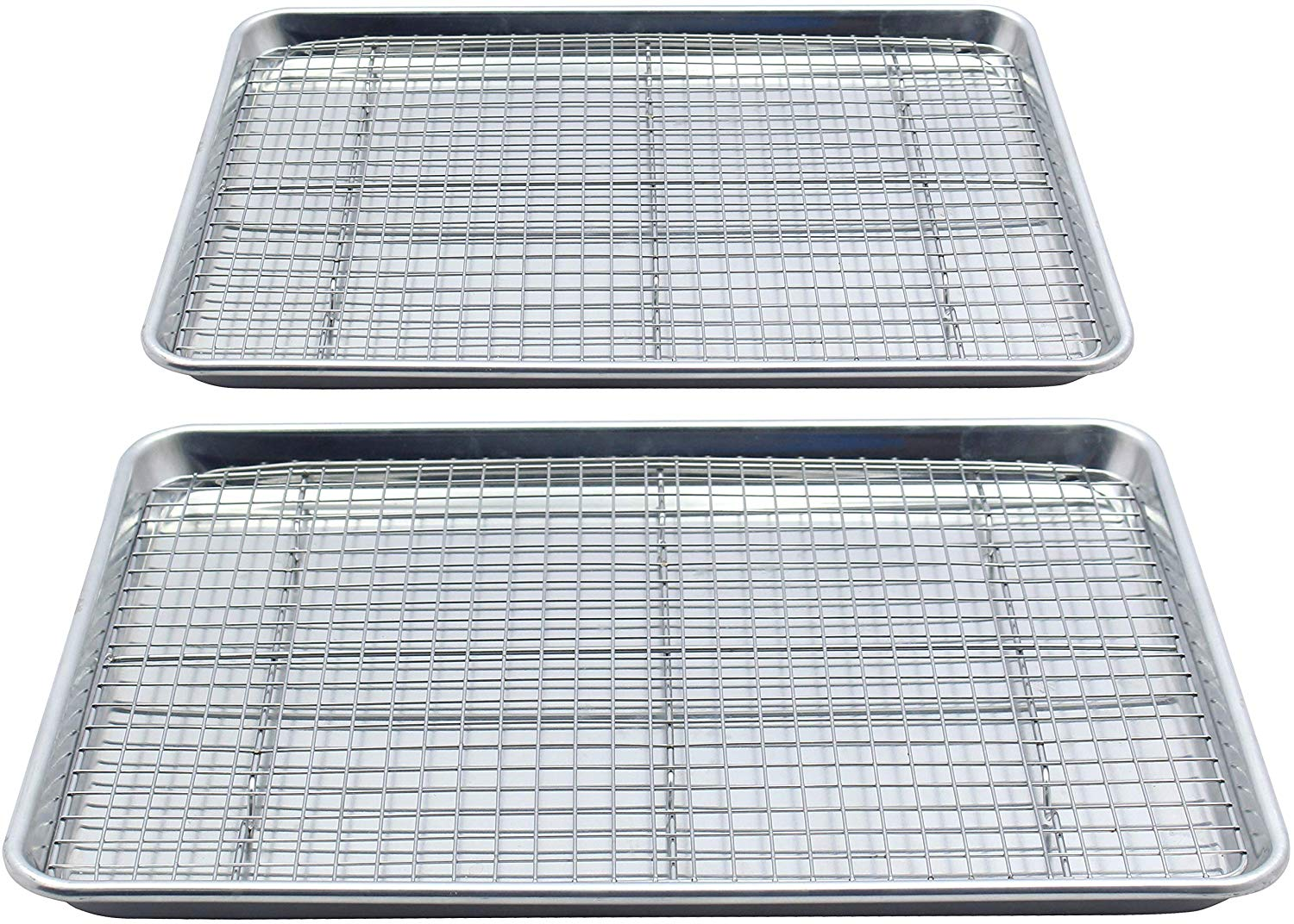 Checkered Chef Stainless Steel Baking Sheets With Racks