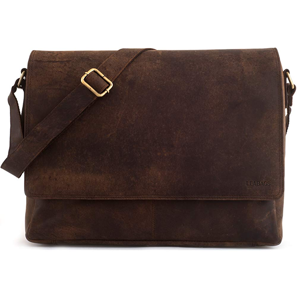 LEABAGS Oxford | Brown Leather Shoulder Bags