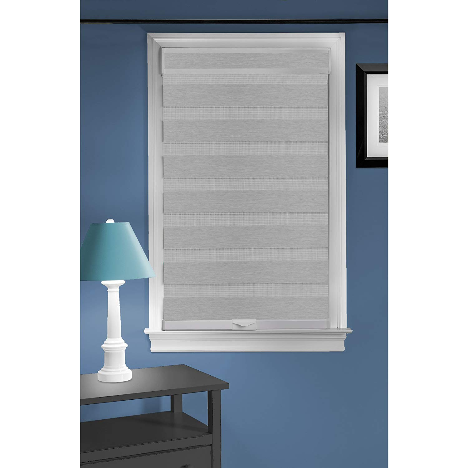 "Achim Home Furnishings Cordless Celestial Sheer Double Layered Window Shade, 35"" x 72"", Grey"
