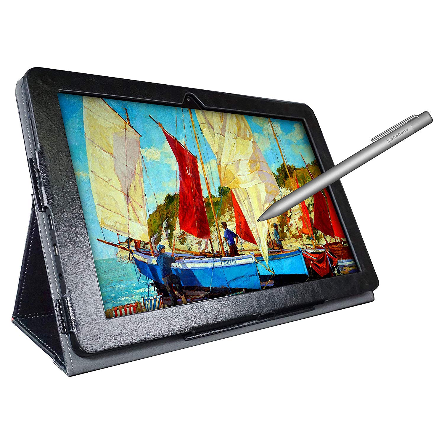 [3 Bonus Items] Simbans Picasso Tab 10 Inch Drawing Tablet and Stylus Pen | 2GB, 32GB, Android 9 Pie, IPS Screen | Best Gift for Beginner Graphic Artist Boy, Girl | HDMI, USB, GPS, Bluetooth, Wi-Fi