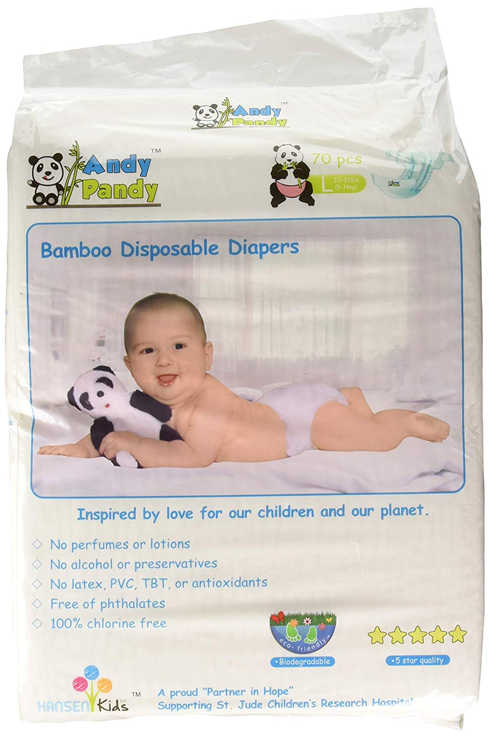 10. Eco-Friendly Premium Bamboo Disposable Diapers