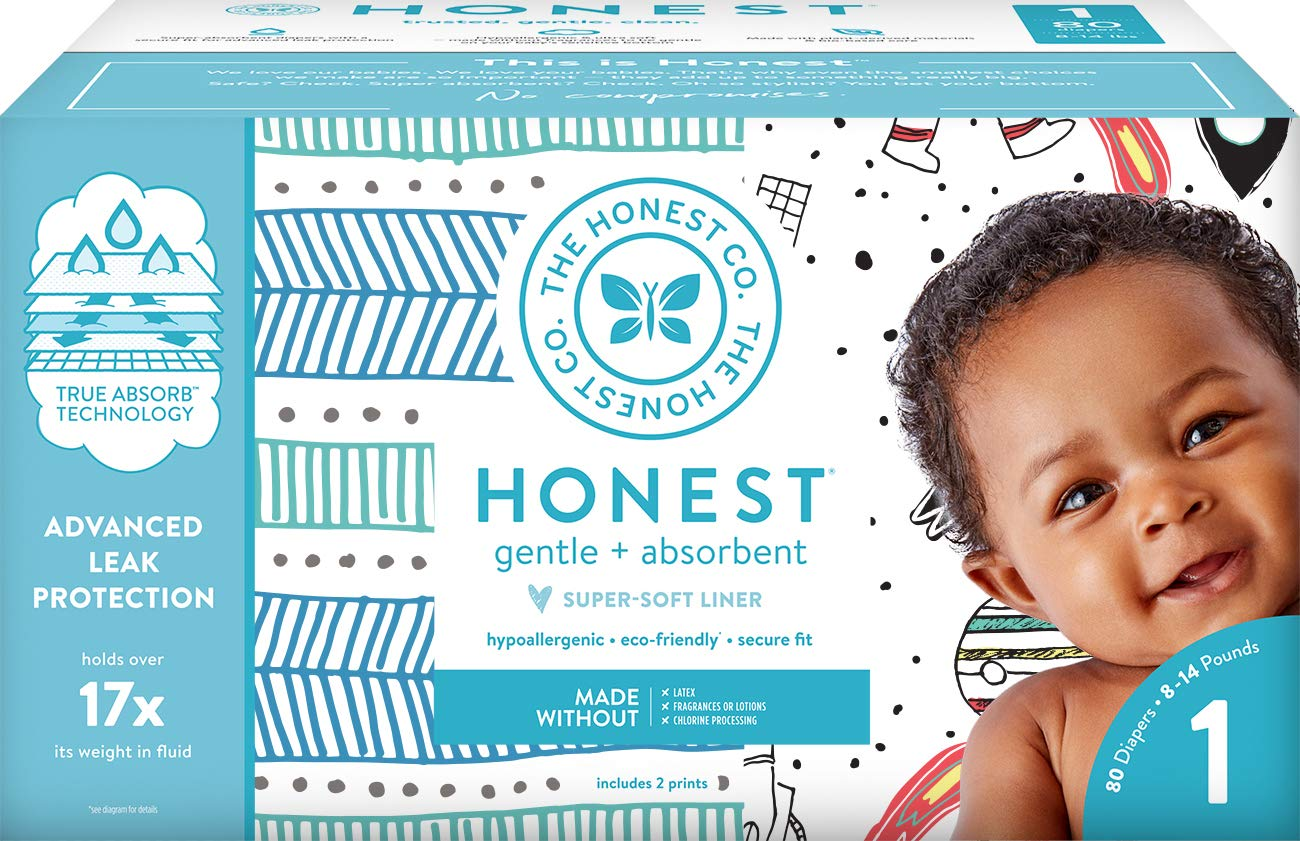 9. The Honest Company Club Box Diapers with True Absorb Technology