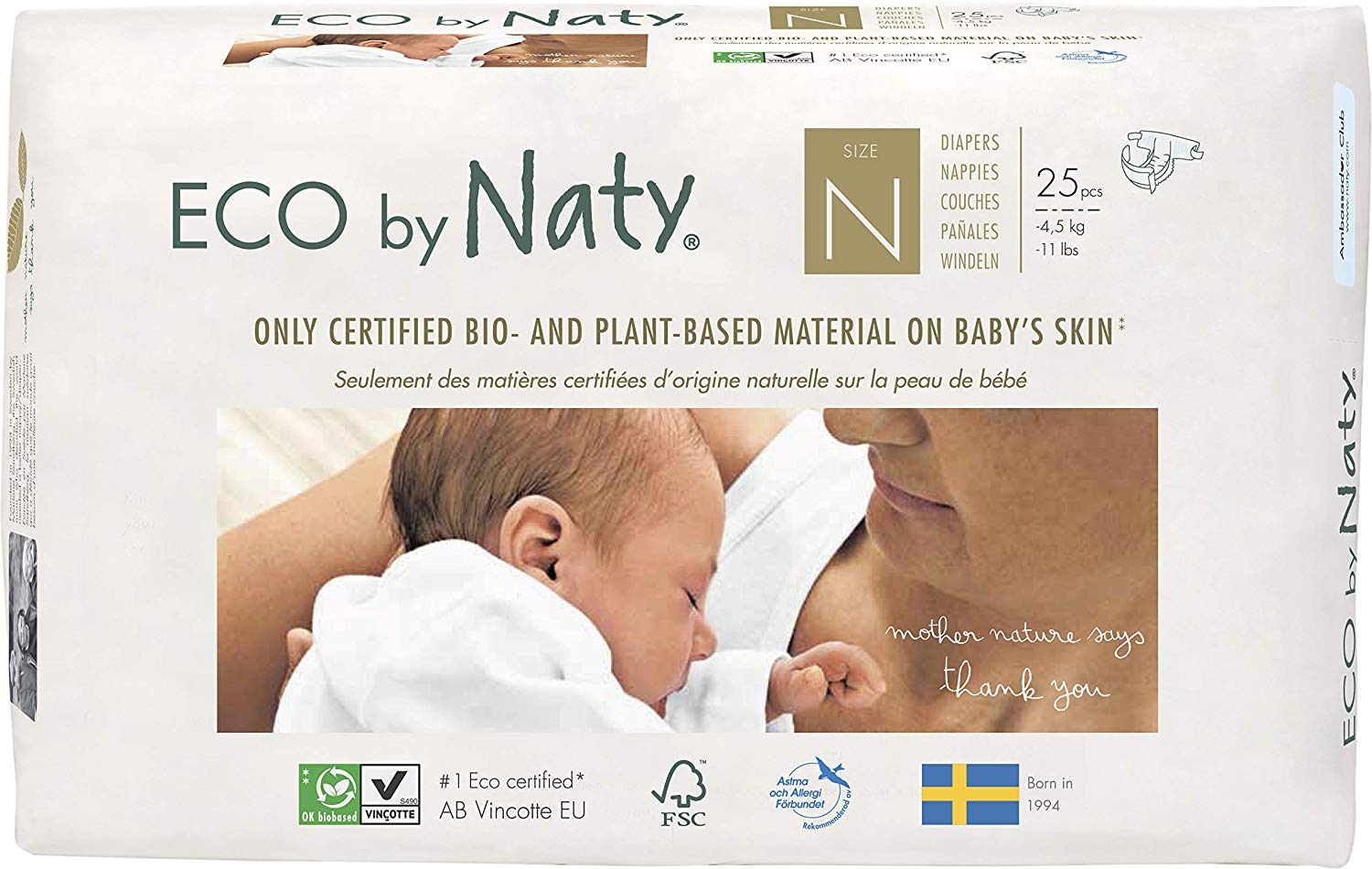 6. Eco by Naty, Size Newborn