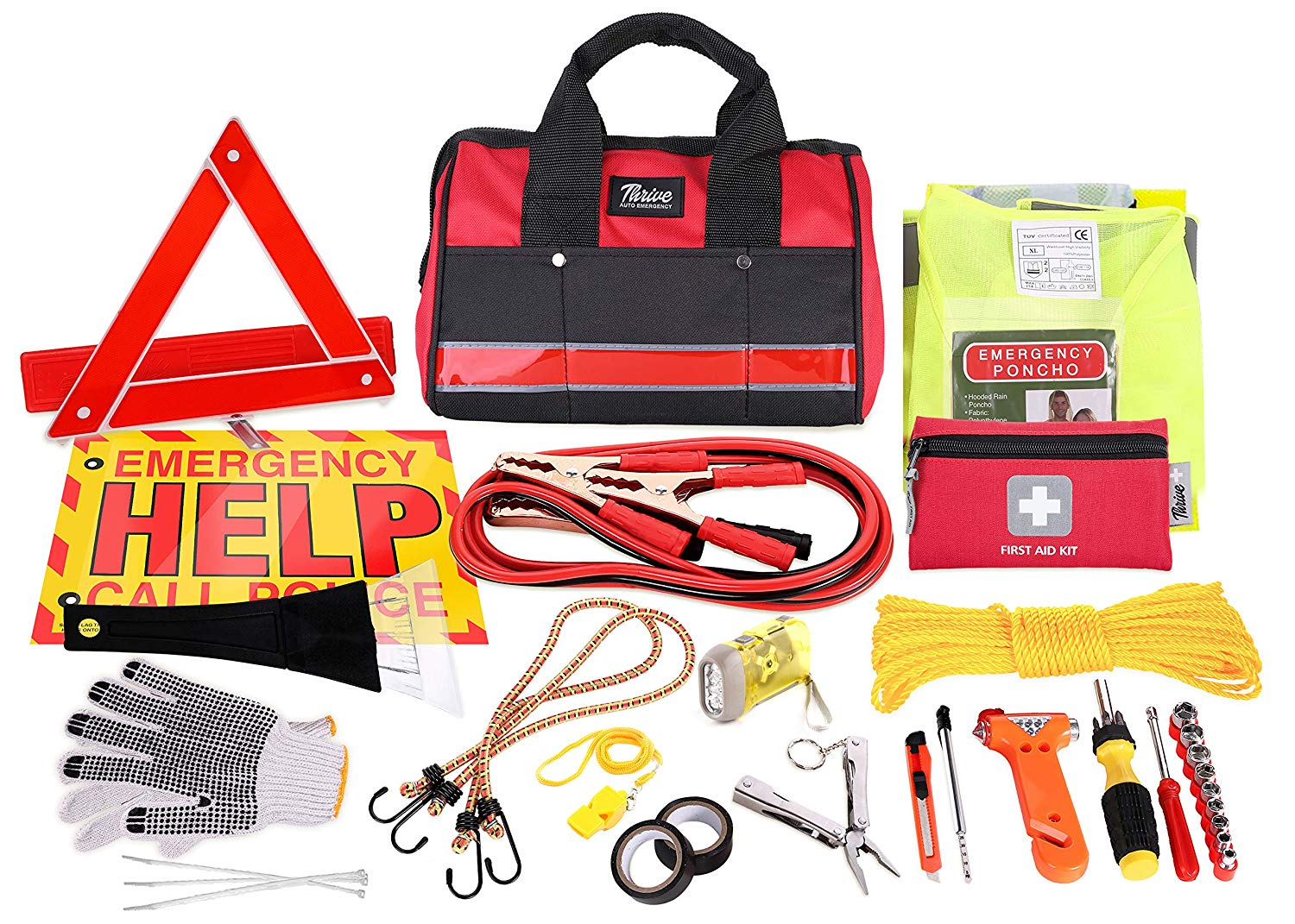 Thrive Auto Emergency Kit + First Aid Kit