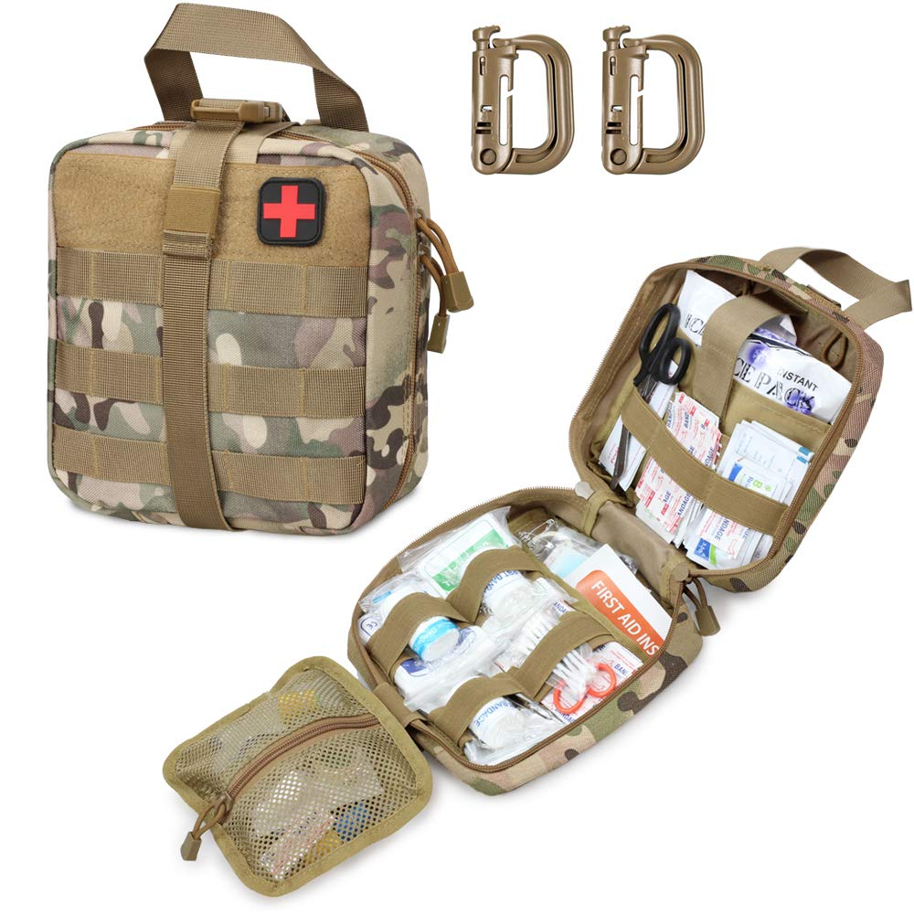 Livans Tactical First Aid Pouch, Molle EMT Pouches Rip-Away Military