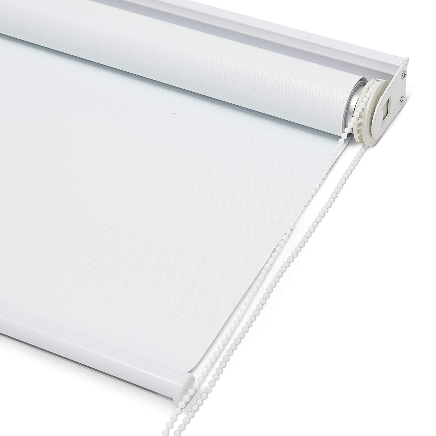 Kyle & Bryce Blackout Roller Shade - White - Smooth Mechanics - Temperature Controlling Blinds - Temporary Darkening - Classic Sleek Style - Multiple Sizes - Window Cover (White, 24 x 72 inch)
