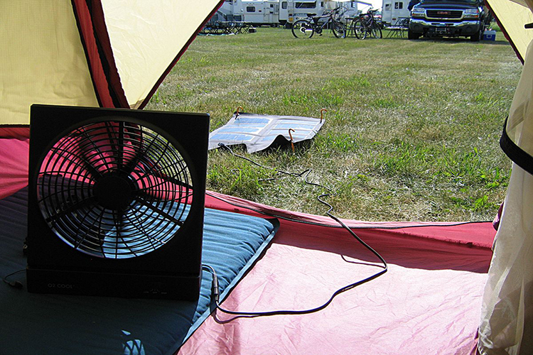 Solar Powered Fans