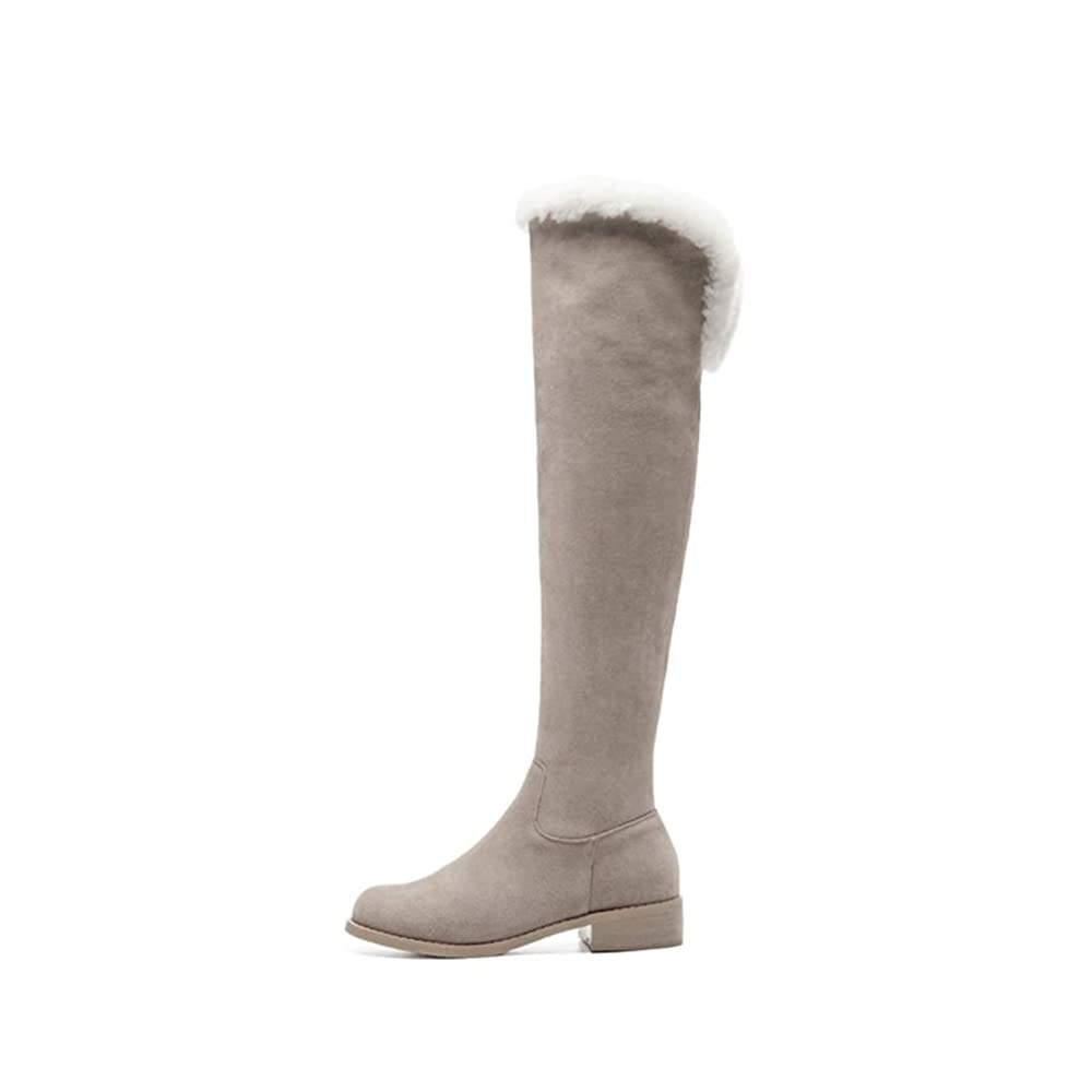 3. Hoxekle Suede Knee High Boots - Winter Dress Boots