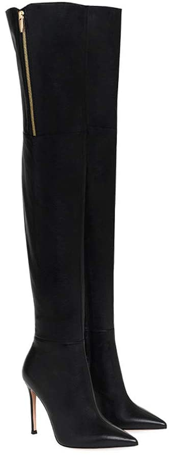 6. EDTEPF Women's Over Knee Boots Pointy- Winter Dress Boots