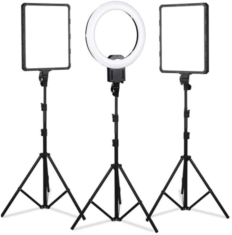 """WenFei shop Photography Video Lighting kit,19"""" Ring Light,1422"""" LED Panel Light with Stand Kit for YouTube,Makeup, Photography,Live Streaming Fill Light -"""