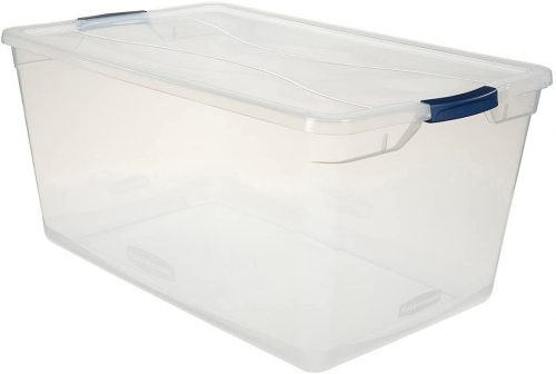 Rubbermaid Cleverstore Clear Large Storage